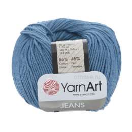 YarnArt Jeans 16 (джинс), 55%хлопок, 45% акрил, 50 гр.160 м