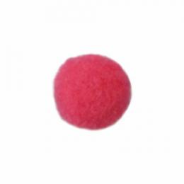 Помпоны, 18 мм, уп. 25шт. цв.:малиновый