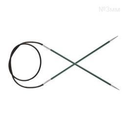 KnitPro Zing 3 мм, 80 см, круговые спицы, цв.: джейд