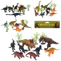 Динозавр EM664-6-5-4-7 (72шт) от5шт, от 10см, деревья, 4вида, в кульке, 20-23-5см