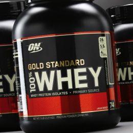 ON Gold standart 100% whey, банка 909гр. Delicious strawberry