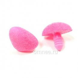 Носик для игрушек винтовой бархатный 20/15 мм, цв.: розовый, без заглушки