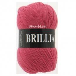 Vita Brilliant 4960 (темный красный коралл), 45% шерсть luster, 55% акрил, 100 гр. 380 м.