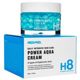 Medi - peel H8 hyaluronic acid formula daily intensive skin care power aqua cream увлажняющий крем с пептидными капсулами