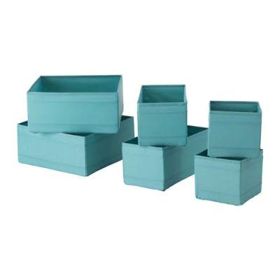 СКУББ Набор коробок, 6 шт., голубой