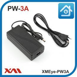 XMEye-PW3A. 12 Вольт. 3 Ампера. Импульсный блок питания для камер видеонаблюдения.