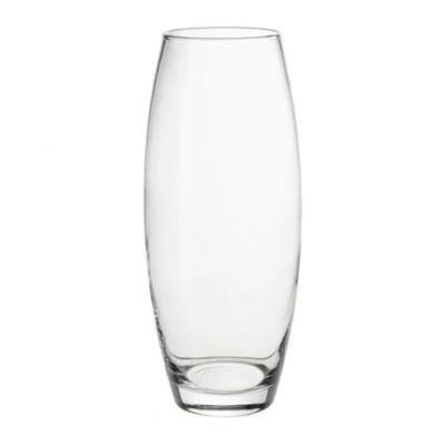 МУНТЛИГ Ваза, прозрачное стекло, 25 см