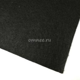 Фетр листовой жёсткий 1,2 мм, 20х30 см, цв.: 659 чёрный