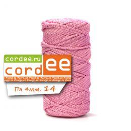 Шнур Cordee, ПЭ4 мм,100м, цв.:14 розовый