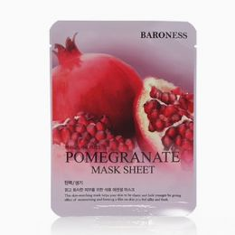 Baroness Airlaid Face Mask POMEGRANATE 21g Тканевая маска с экстрактом граната