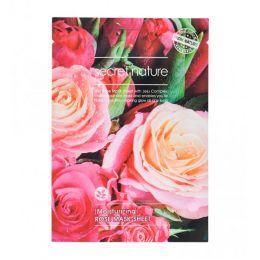 SECRET NATURE ROSE SHEET MASK Увлажняющая маска для лица с розой