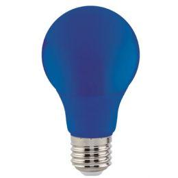 Лампа LED 3W E27 синя/10/100 Spectra