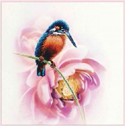 Вышивка крестом ''Птица на ветке'', 48х46 см