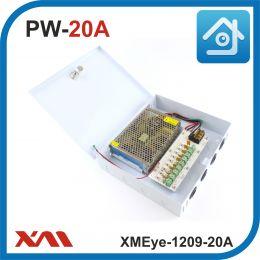 XMEye-1209-20A(Металл/Ящик). 9 Выходов, 12 Вольт, 20 Ампер. Блок питания для видеонаблюдения.