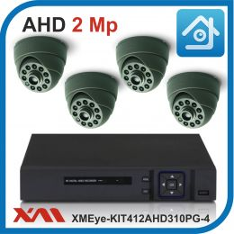 Комплект видеонаблюдения на 4 камеры XMEye-KIT412AHD310PG-4.