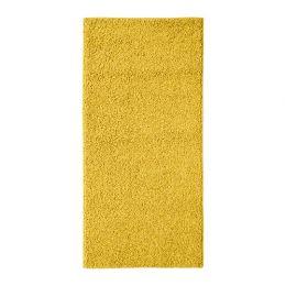 АЛЛЕРСЛЕВ Ковер, длинный ворс, желто-коричневый 57 х 120 см