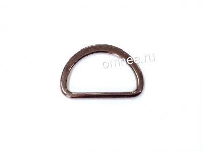 Полукольцо металлическое, 2 см, цв.: т. никель