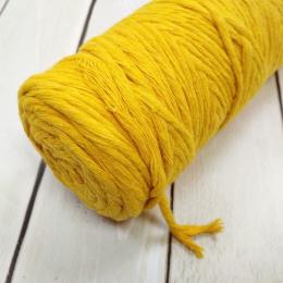 Шпагат Cordee 4 мм, 100 метров, хлопковый кручёный, цв.: горчичный