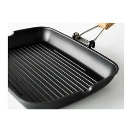 ГРИЛЛА Сковорода для гриля, черный, 36*26 см
