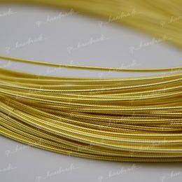 Канитель жесткая Yellow Gold 1,25 мм 5 гр (Индия)