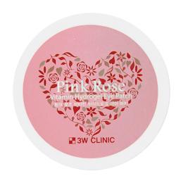 Премиум гидрогелевые патчи для век с экстрактом французской розы 3W Clinic Pink Rose 60 шт.
