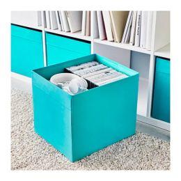 ДРЁНА Коробка, синий, 33 х 38 х 33 см