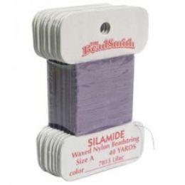 Нитки Silamide цвет лиловый / размер A / 36,5м / 1шт