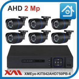 Комплект видеонаблюдения на 6 камер XMEye-KIT842AHD750PB-6.
