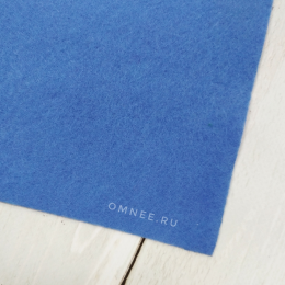 Фетр листовой мягкий 1,2 мм, 20х30 см, цв.: 068 т.голубой