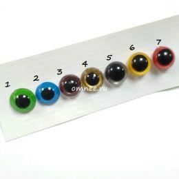 Глазки безопасные цветные, диаметр 10 мм, пара