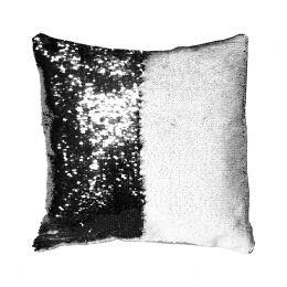 Подушка с пайетками 40*40см (чёрная)