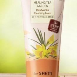 Saem Пенка для умывания с экстрактом чая ройбуш Healing Tea Garden Rooibos Tea Cleansing Foam