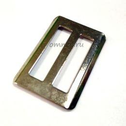 Рамка регулятор (шлевка) металлическая 35 мм, цв.: никель