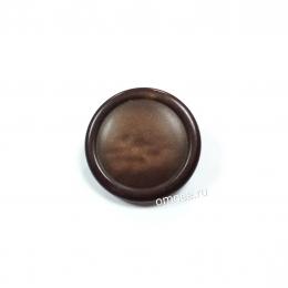 Пуговица на ножке 23 мм, цв.: коричневый, шт.