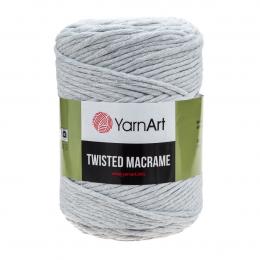 YarnArt Twisted Macrame 756 (дымчато-белый), хлопок 60%, вискоза 40%, 500 гр.210м. шпагат