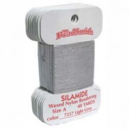Нитки Silamide цвет светло-серый / размер A / 36,5м / 1шт