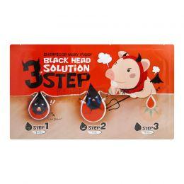 Трехшаговый набор для удаления черных точек с носа Elizavecca Black Head Solution 3 Step