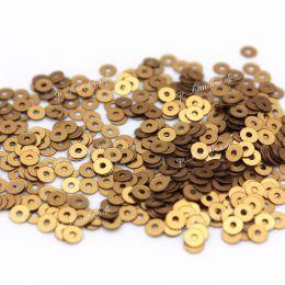Пайетки плоские 866W Satinati 3 мм 3 гр (Италия)