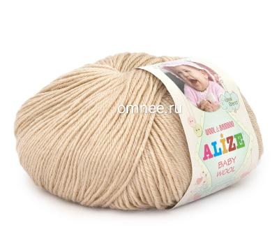 Alize BABY WOOL 310 (медовый), 40% шерсть, 40 % акрил, 20% бамбук, 50 гр. 175 м.