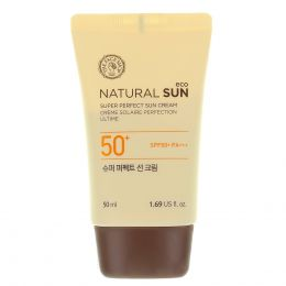 THE FACE SHOP Матирующий солнцезащитный крем Natural Sun Eco Super Perfect Sun Cream SPF50+PA+++