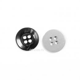 Пуговица 15 мм, цв.: чёрно-серый, шт.