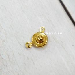Застёжка ''кнопка'' 8 мм, цв.: золото