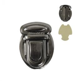 Застёжка для сумки 25х35 мм (КА0040), цвет: т. никель