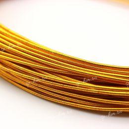 Канитель жесткая Honey Gold 1,25 мм 5 гр (Индия)