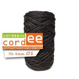 Шнур Cordee, ПЭ4 мм,100м, цв.:01 чёрный