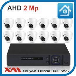Комплект видеонаблюдения на 12 камер XMEye-KIT1622AHD300PW-12.