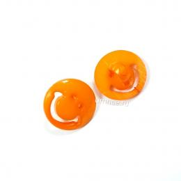 Пуговицы пластиковые ''смайлики'', 12 мм, цв.: оранжевый, шт.