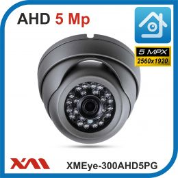 XMEye-300AHD5PG-2,8.(Пластик/Серая). 1920P. 5Mpx. Камера видеонаблюдения.