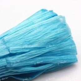 Рафия Sky Blue Pearl 10 мм фасовка 1 метр (Индия)