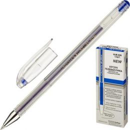 Ручка гелевая синяя, 0,5мм, штрих-код HJR-500B